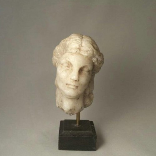 Roman Carved Marble Head of Goddess Aphrodite